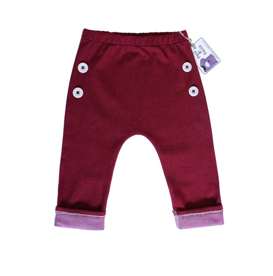 Image of Maroon stretchy pants