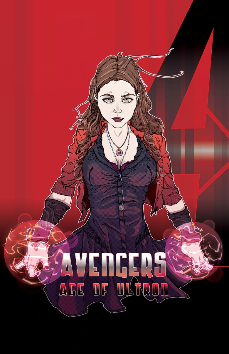 """Image of <font size=""""3"""">SCARLET WITCH </font><br>AVENGERS 