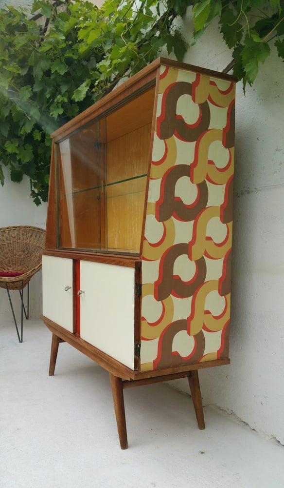 Image of Buffet haut en chêne - Vintage