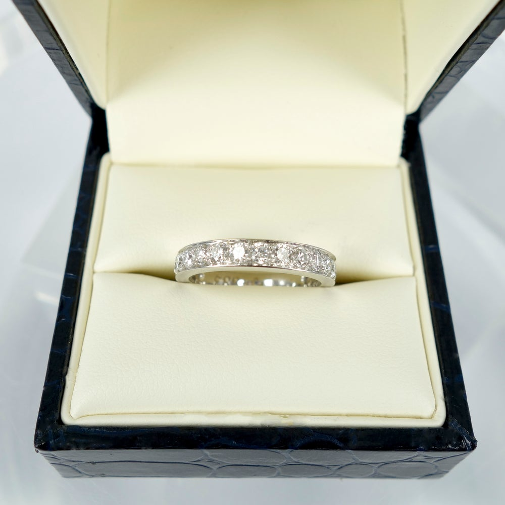Image of 18ct white gold Full circle diamond eternity band