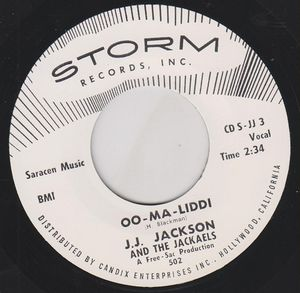 "Image of 7"" JJ. Jackson & The Jackaels : Oo-Ma-Liddi"