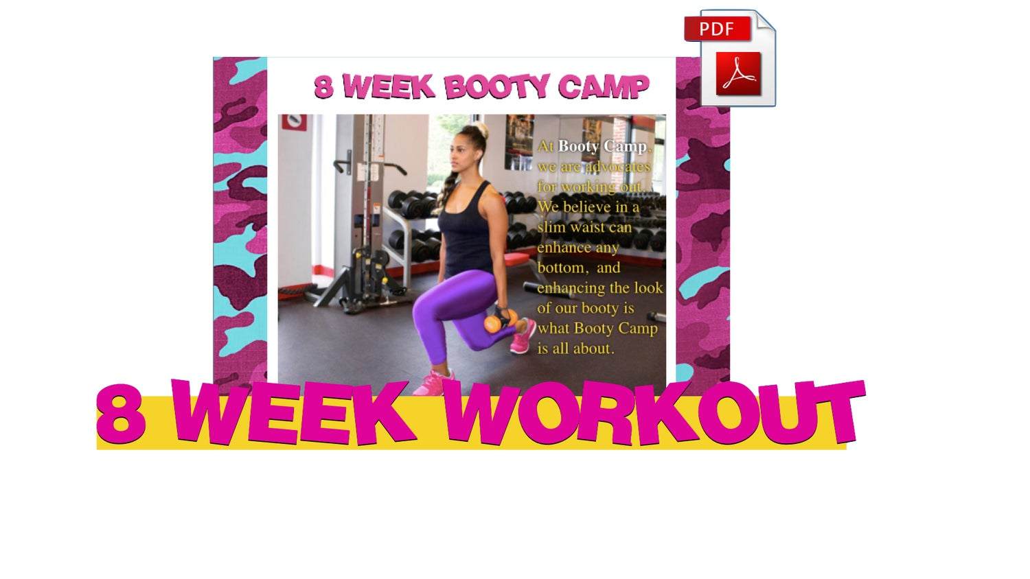 "Image of 8 WEEK WORKOUT PROGRAM ""BOOTY CAMP"""
