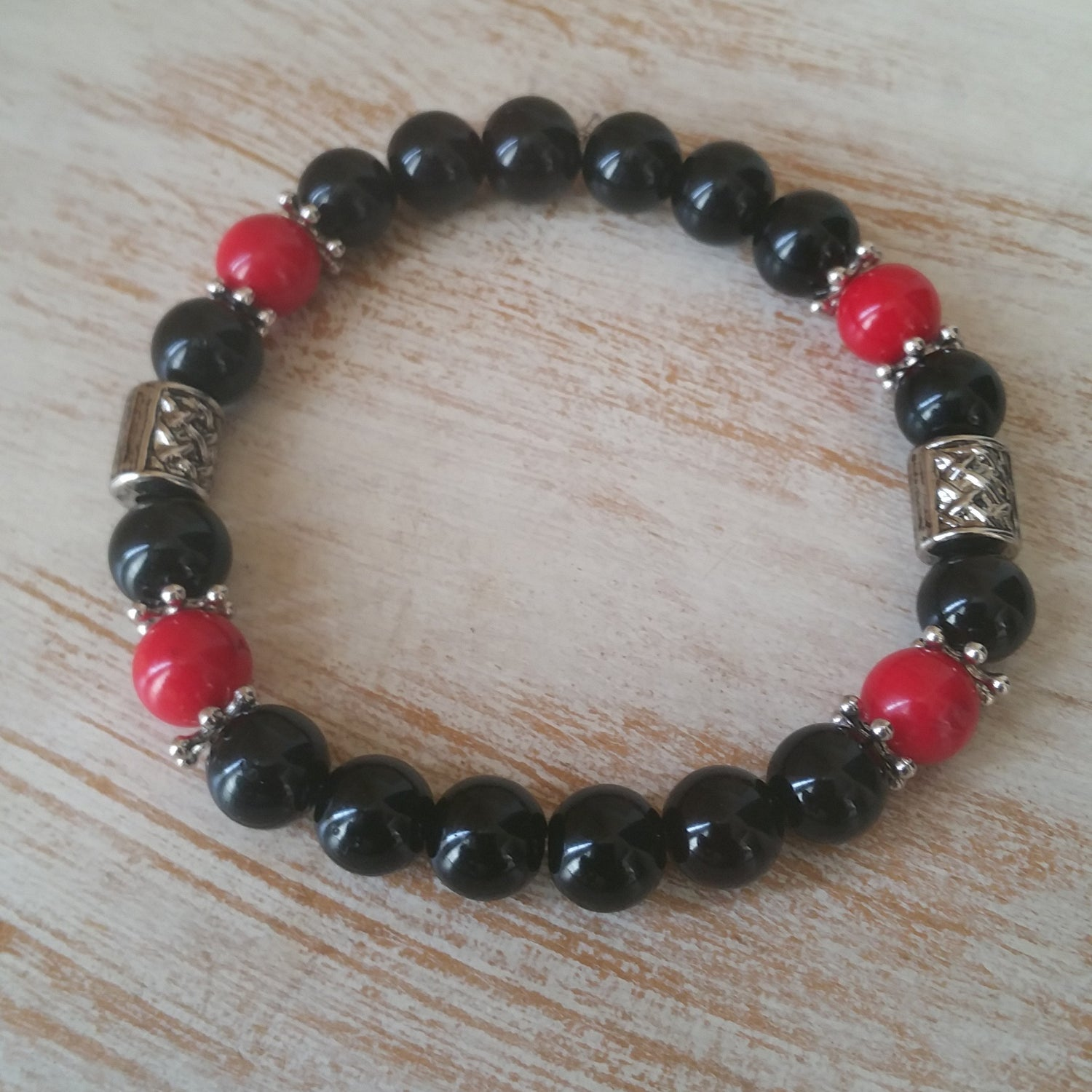 Image of RED JASPER ROCK BRACELET