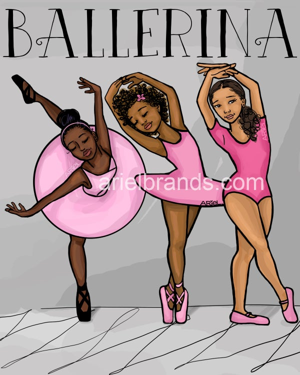 Image of NEW Black Ballerina POSTER/PRINT