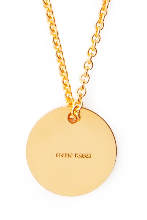 Image of LUCK N LOVE Pure Necklace Big Coin Gold