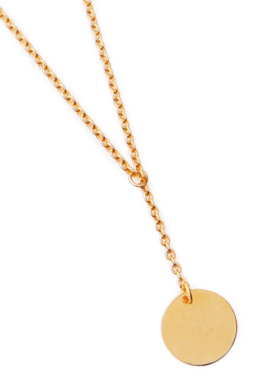 Image of LUCK N LOVE Pure Necklace Small Coin Gold