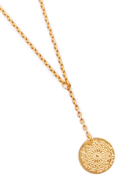 Image of LUCK N LOVE Necklace Small Coin Gold
