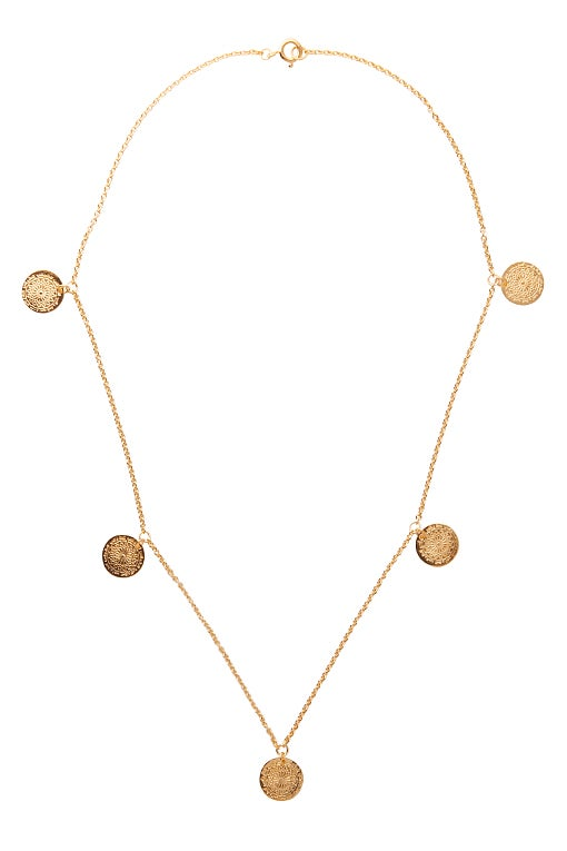 Image of LUCK N LOVE Necklace 5 Coin Gold