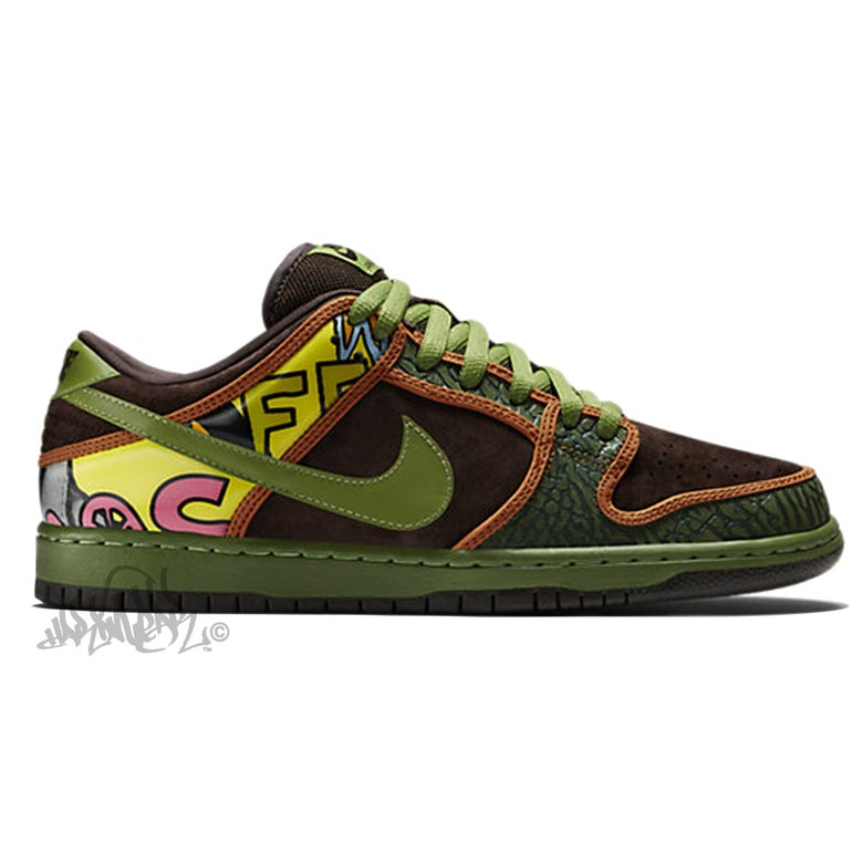 Image of NIKE SB DUNK LOW PREM - DE LA SOUL - 789841 332