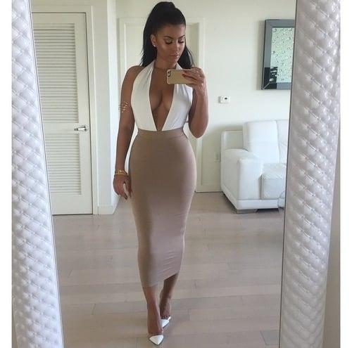 Image of Sexy V Hot one piece dress