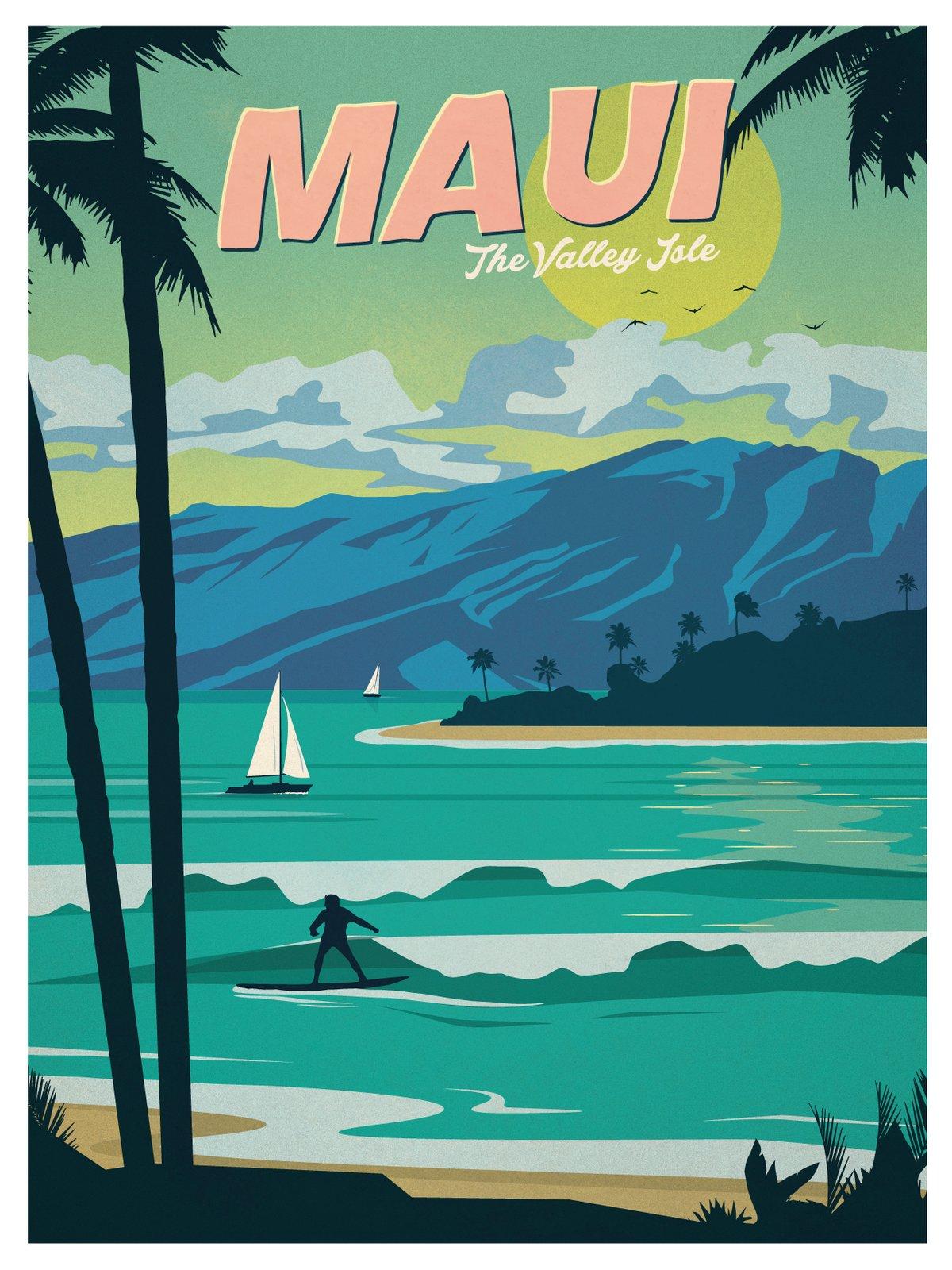IdeaStorm Studio Store — Vintage Maui Poster