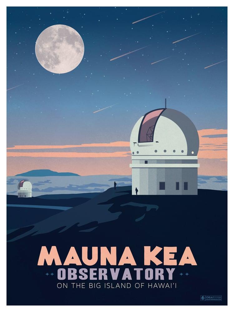 Image of Vintage Mauna Kea Poster