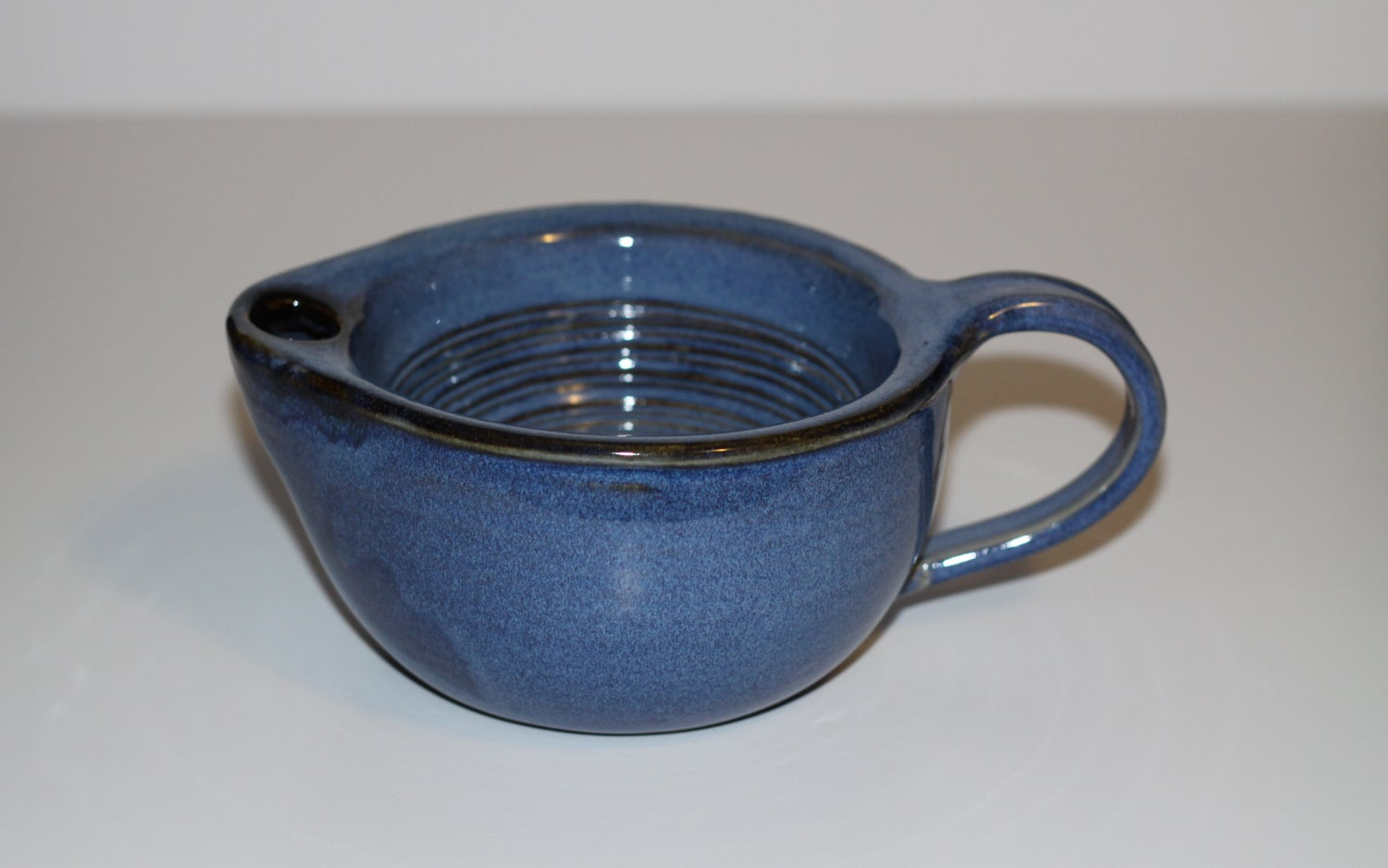 Image of Shaving Scuttle / Shaving Mug / Blue Scuttle / Ridges for Good Lather / Warm Lather / Made to Order