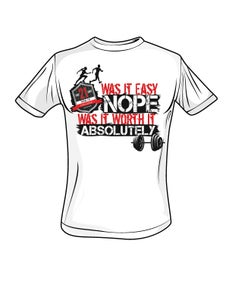 "Image of Mens #TotalFit Challenge ""Worth It"" Tshirt"