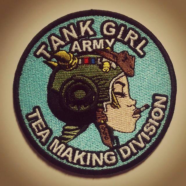 Image of Tank Girl Tea Making Division Patch (with Tank Girl print!)