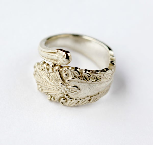 Sterling Silver Plated Vintage Spoon Ring - Laura Pettifar Designs