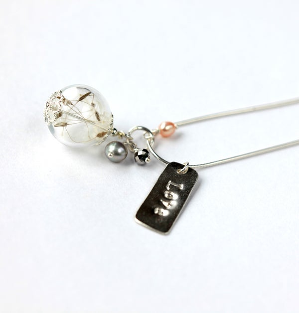 Lottie Love Charm & Dandelion Seed Wish Necklace in Sterling Silver - Laura Pettifar Designs