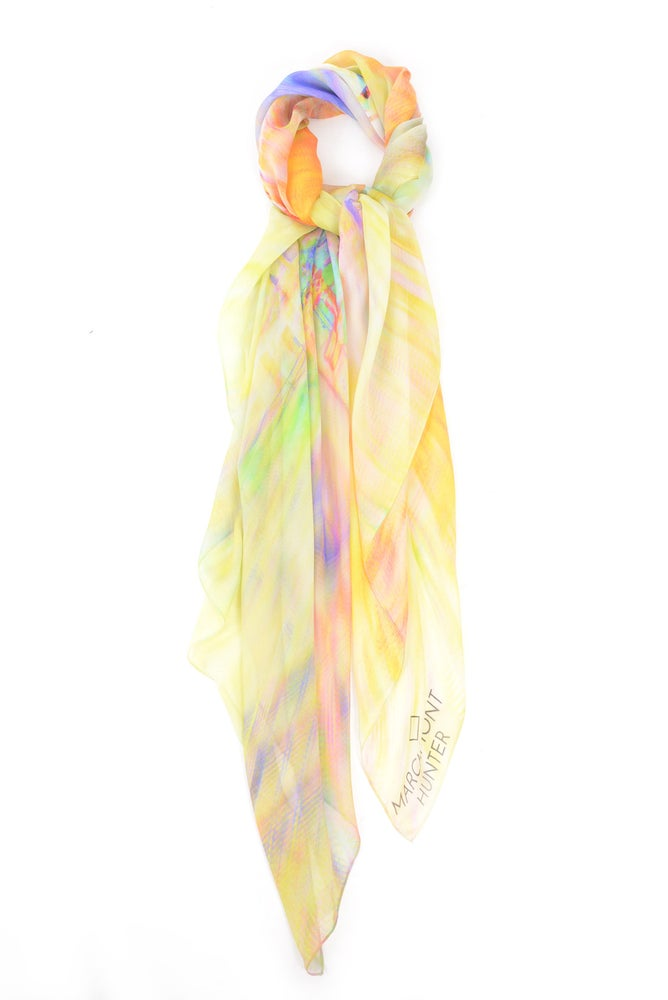 Image of Electric Dreams Silk Chiffon Scarf
