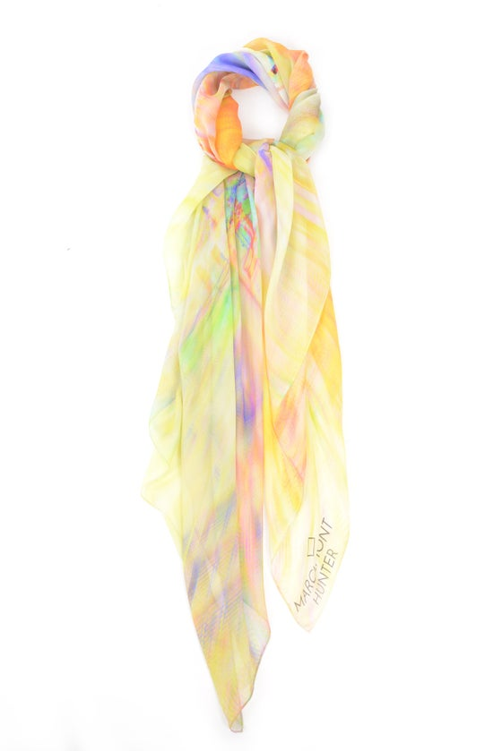 Image of Electric Dreams Silk Chiffon Scarf