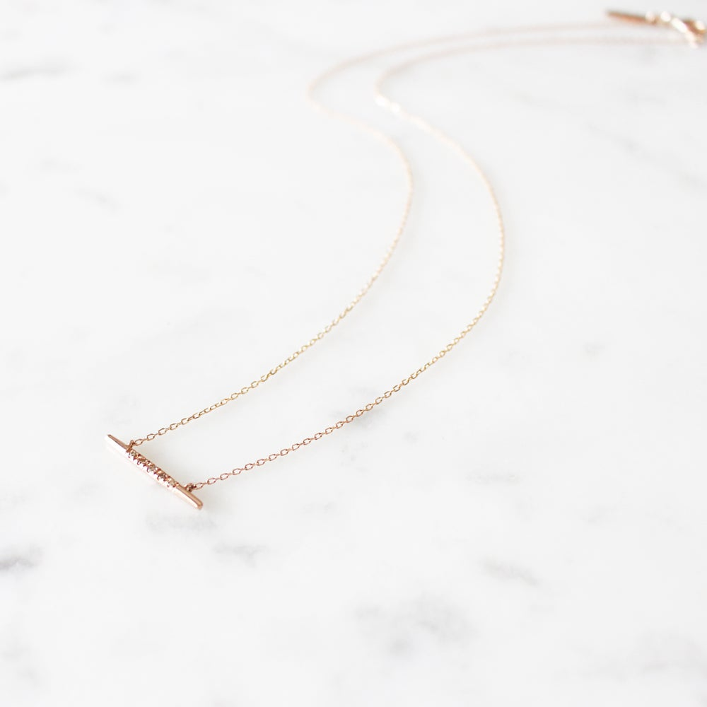 Image of Dewy Orchid Bar Necklace