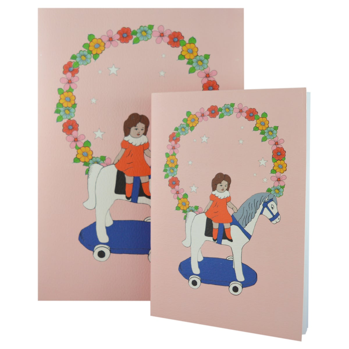 Playtime Girl on Horse Notebook