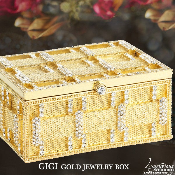 Image of Gigi Gold Swarovksi Crystal Jewelry Box