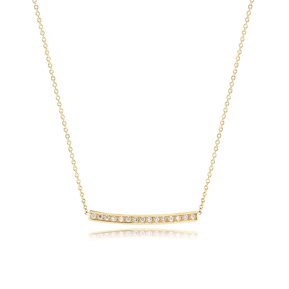 Image of Flow Diamond Necklace, 18ct yellow gold
