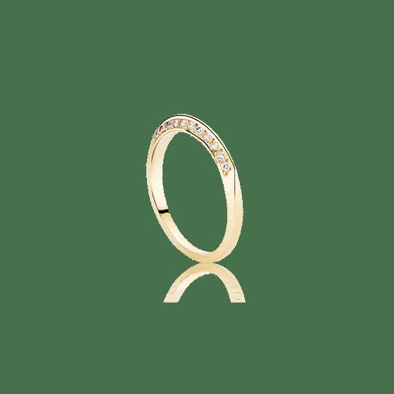 Image of Flow Diamond Ring, 18K yellow gold