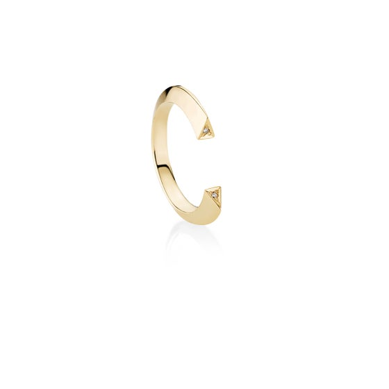Image of Tria Ring, 18K yellow gold