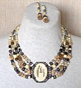 Image of Antique Ivory and bone necklace set