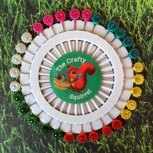 Image of Crafty Squirrel Flower, Heart & Leaf Sewing Pins