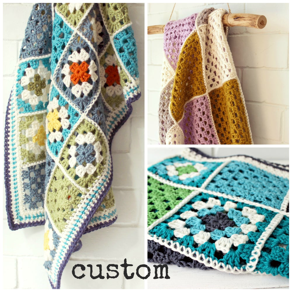 Image of CUSTOM | patchwork granny square | baby blanket