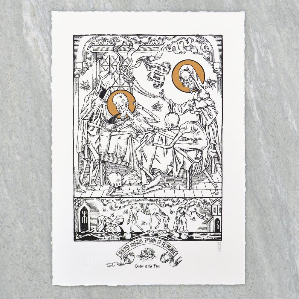 """Image of """"Sanctus Nurglus"""" Screen Print"""