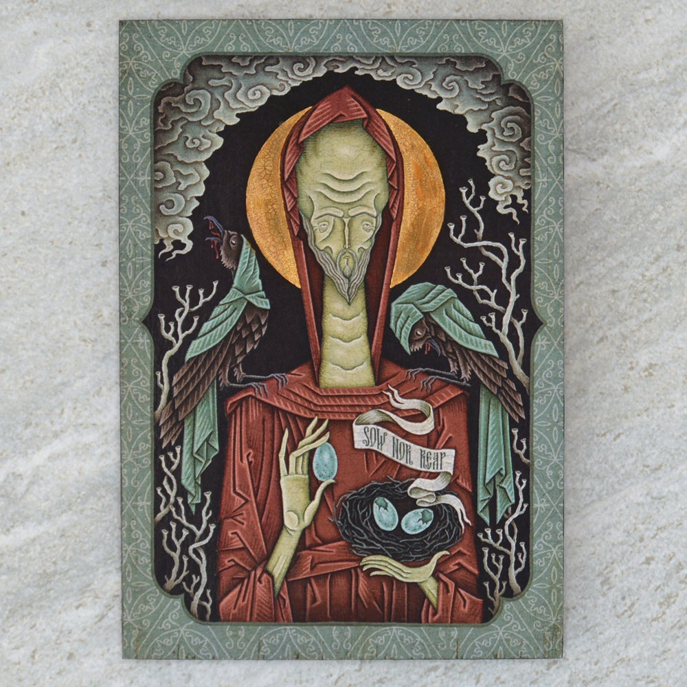 "Image of ""Sow nor Reap"" Wooden Icon"