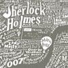 Literary Central London Map (grey screenprint)