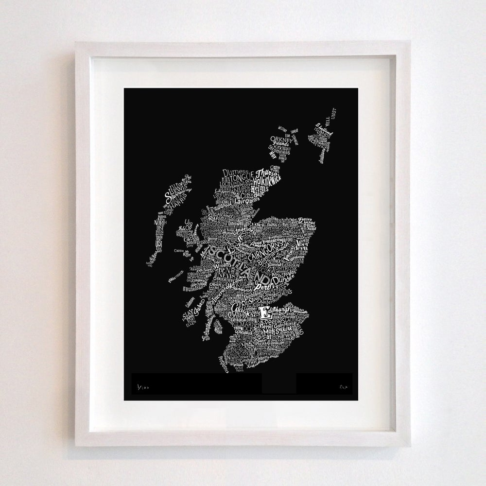 Image of Scotland Type Map (Black)
