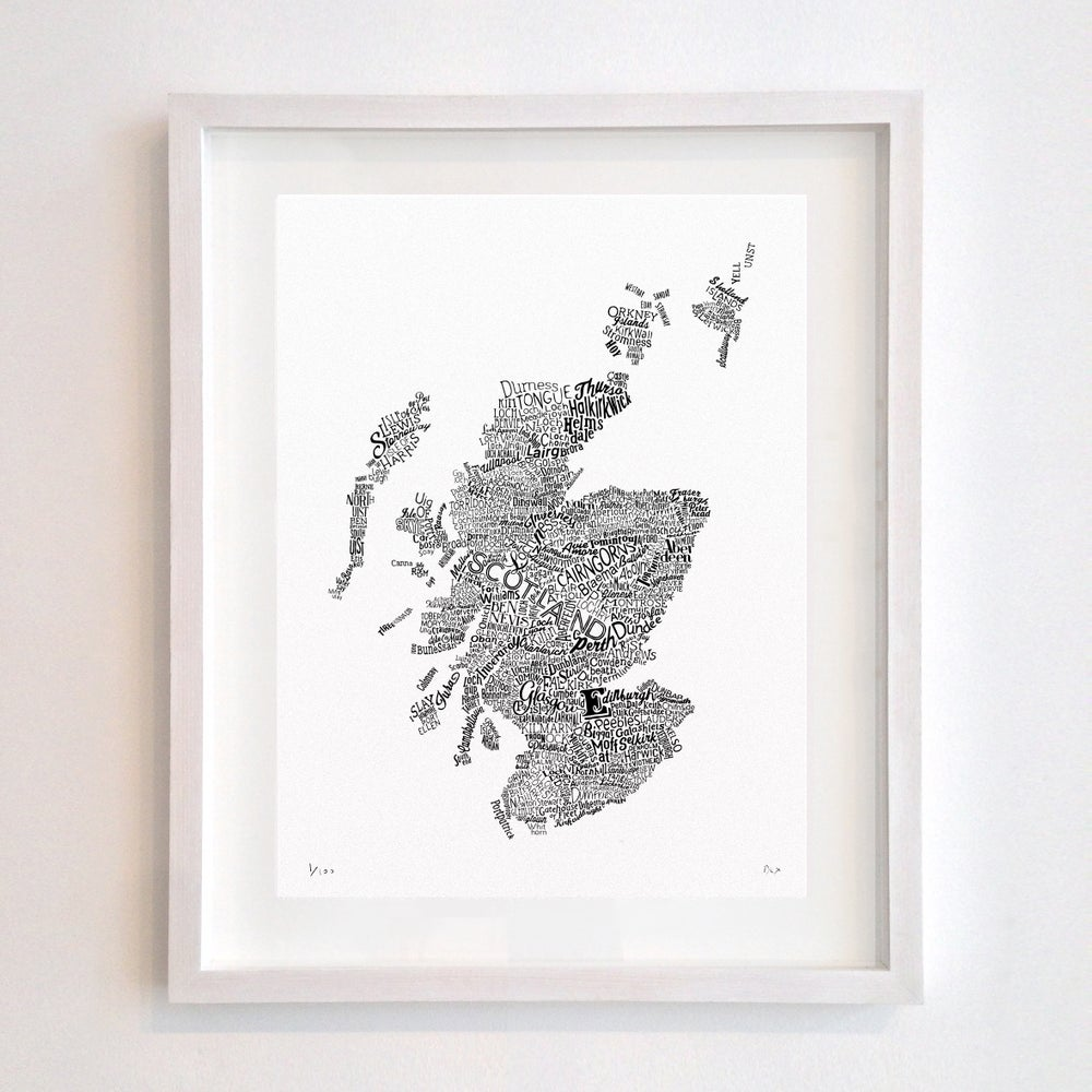 Scotland Type Map (White)