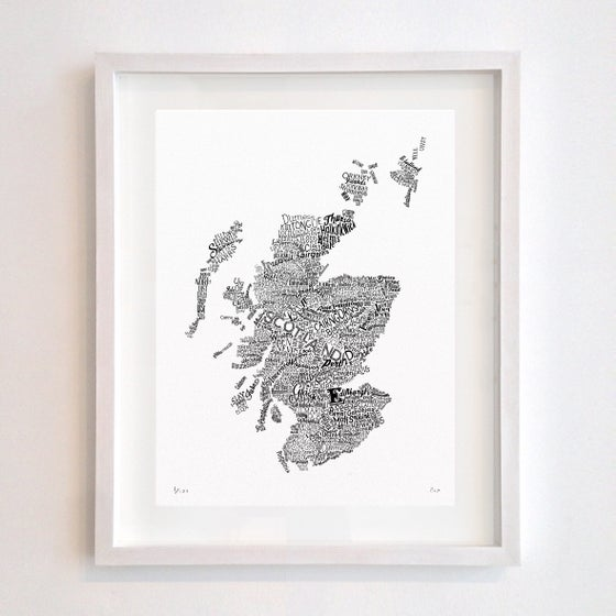 Image of Scotland Type Map (White)