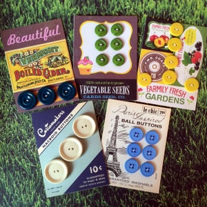 Image of Vintage Button Cards
