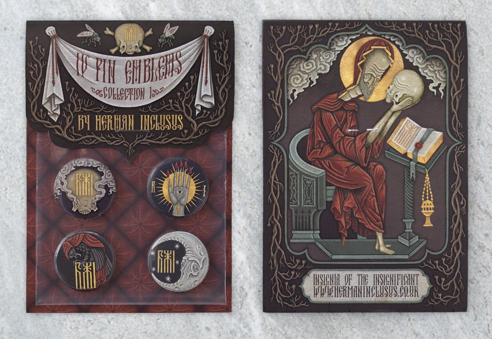 """Image of """"IV Pin Emblems: Collection I"""" Button Badge Set"""