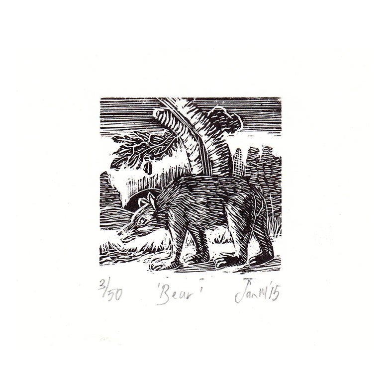 Image of 'Bear'- Wood engraving