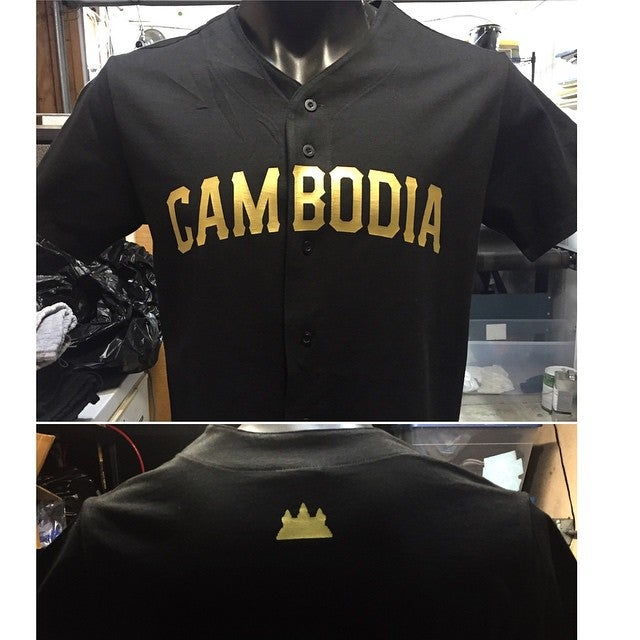 Image of REP CAMBODIA BLACK COTTON JERSEY