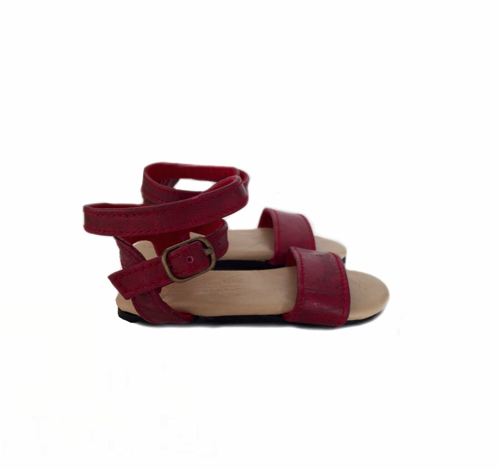 Image of Gypsy sandal -Deep Burgundy