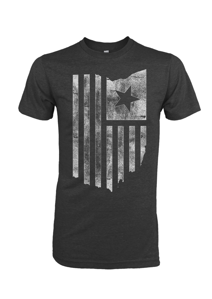 Image of Ohio American Flag Black