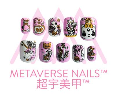 Image of Metaverse Nails- Princess Fantasy (SKU: A1101)