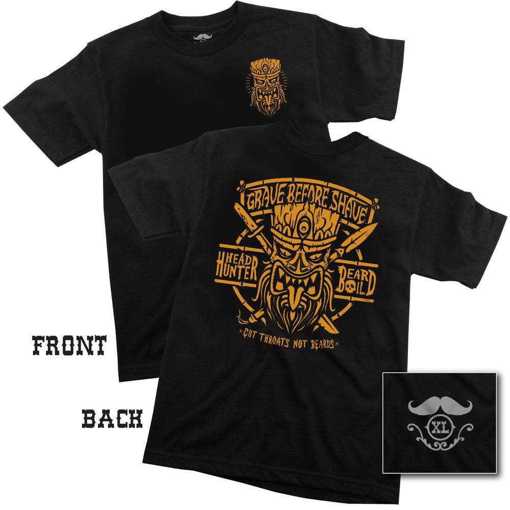 "Image of GRAVE BEFORE SHAVE ""HEAD HUNTER"" Tee shirt"