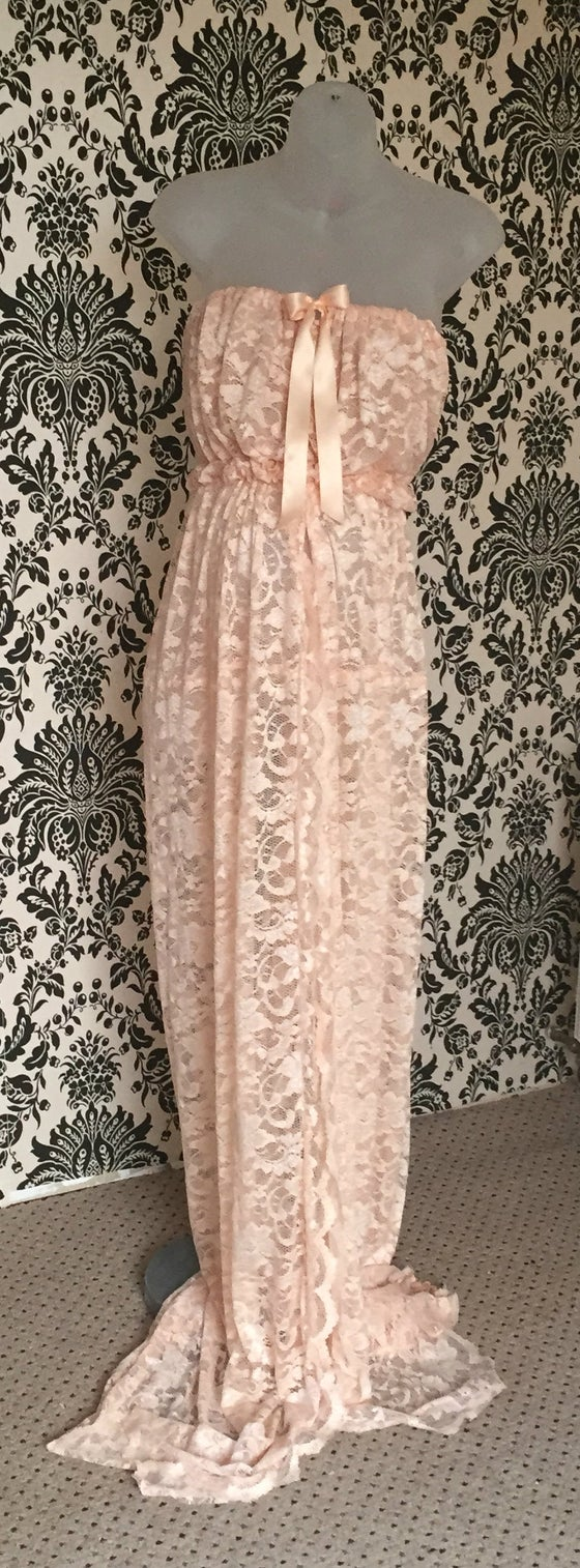 Image of ~Full Lace ~ Sarah ~ Maternity Gown ~