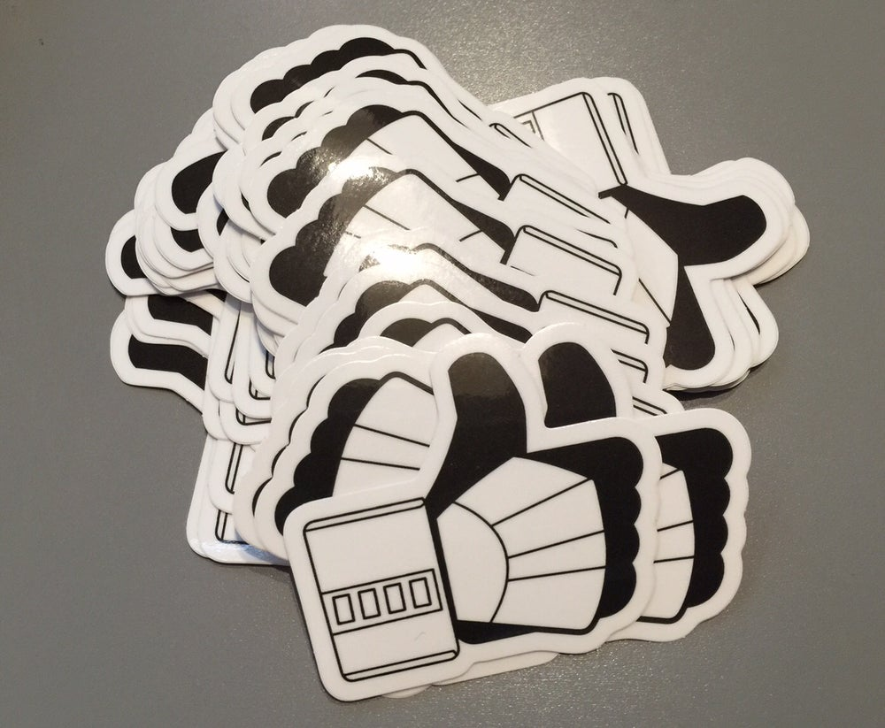 Image of TK Thumbs Up Vinyl Sticker 2.5""
