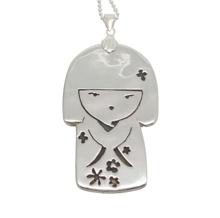 Image of JAPANESE DOLL STERLING SILVER NECKLACE