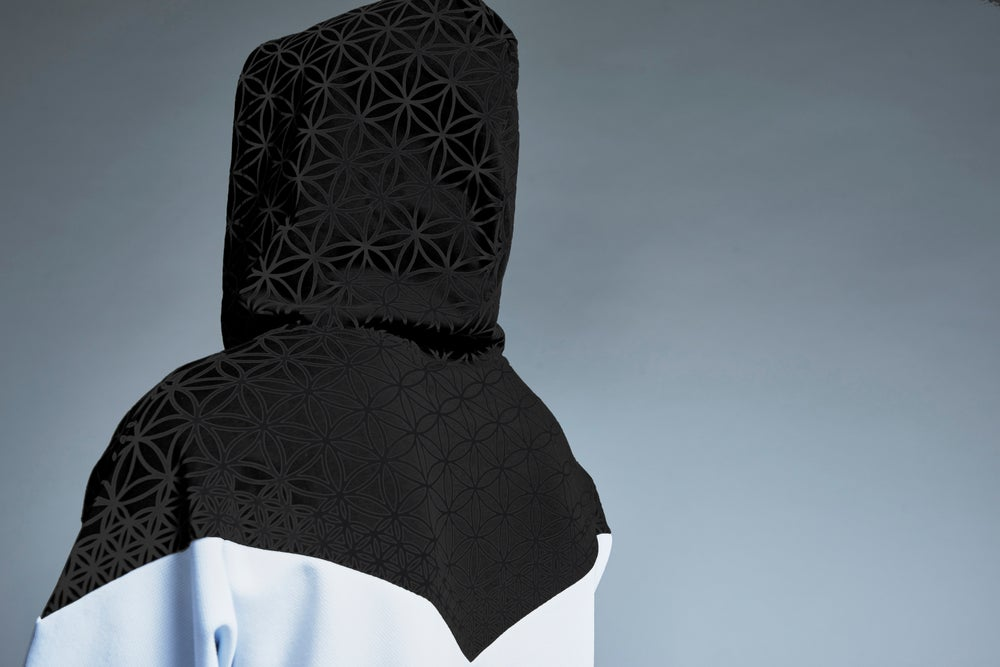 Image of FLOWER OF LIFE hooded tee